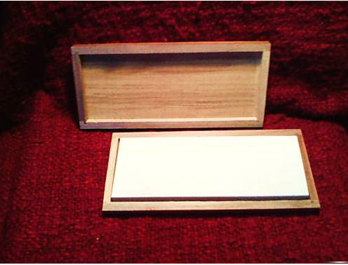 "8"" x 3"" x 1"" Hard Novaculite Whetstone Knife Sharpener In Box"