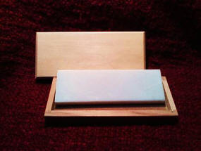 "6"" x 2"" x 1/2"" Translucent ARK Whetstone Sharpener with Box"