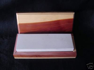 "6"" x 2"" x 1"" Hard ARK Whetstone Sharpener in Wooden Bo"